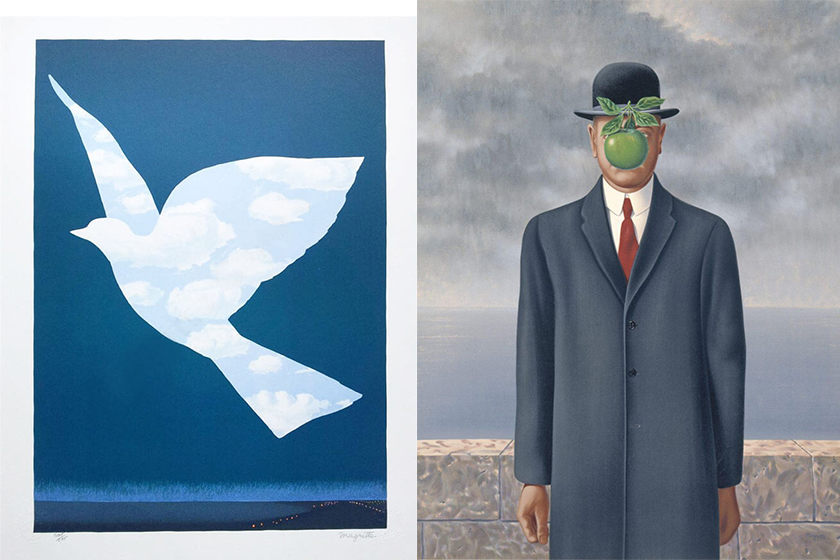 Rene-Magritte The Sky Bird The Son of Man