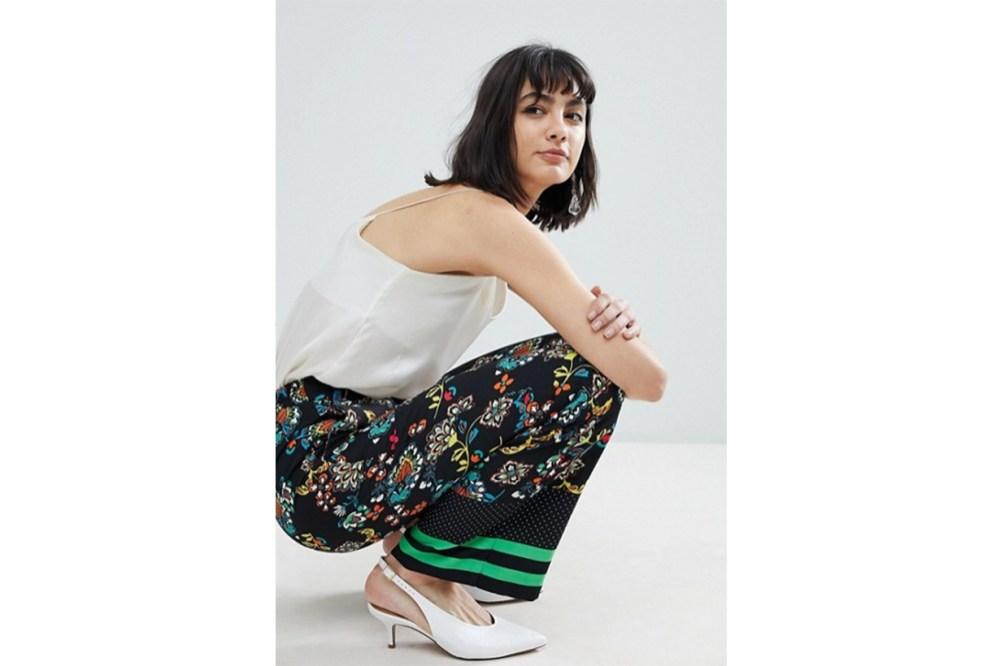 River Island Floral Print Wide Leg Trousers