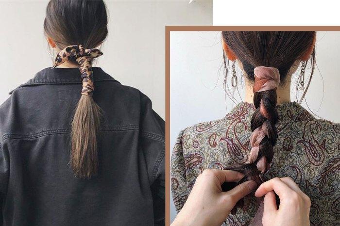 夏天必試「絲質馬尾」,把絲巾髮型推向新層次!