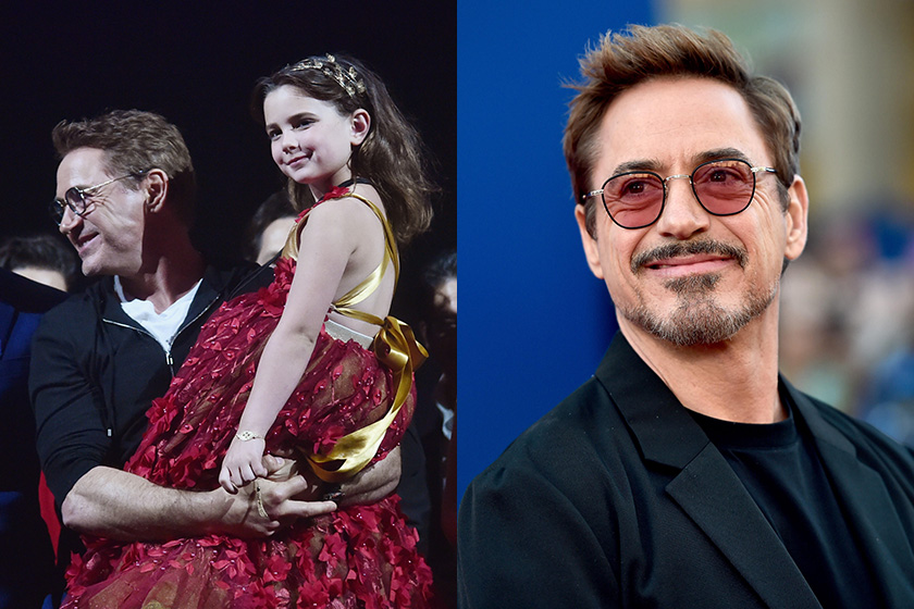 Marvel Tony Stark Robert Downey Jr. 49 birthday Alexandra Rabe video