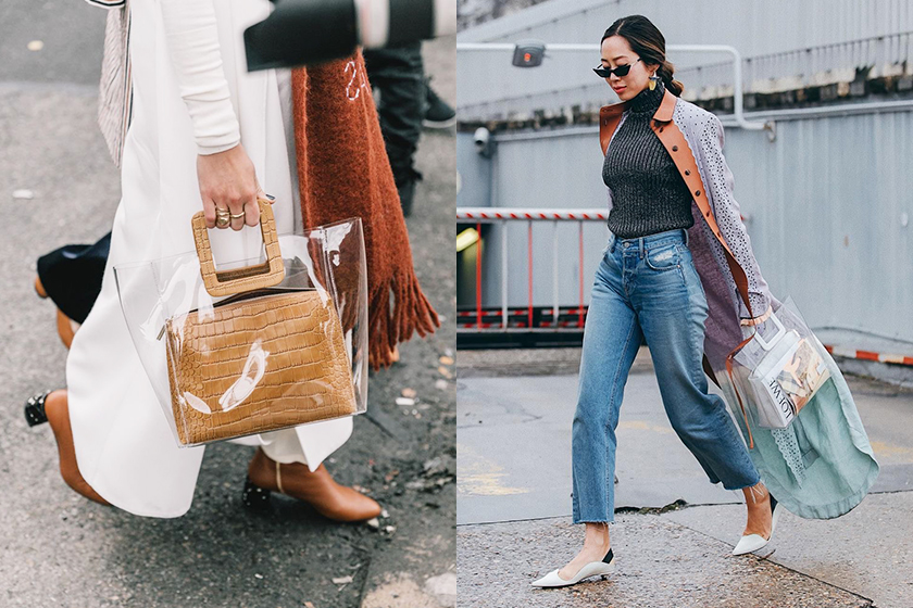 staud Shirley PVC Bag streetsnaps