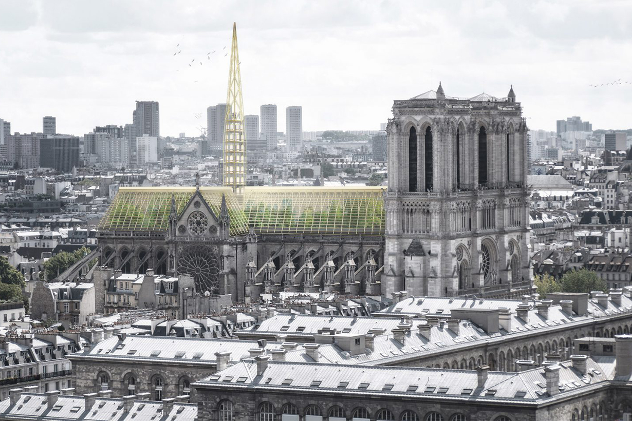 Studio NAB proposes turning Notre-Dame's roof into public greenhouse
