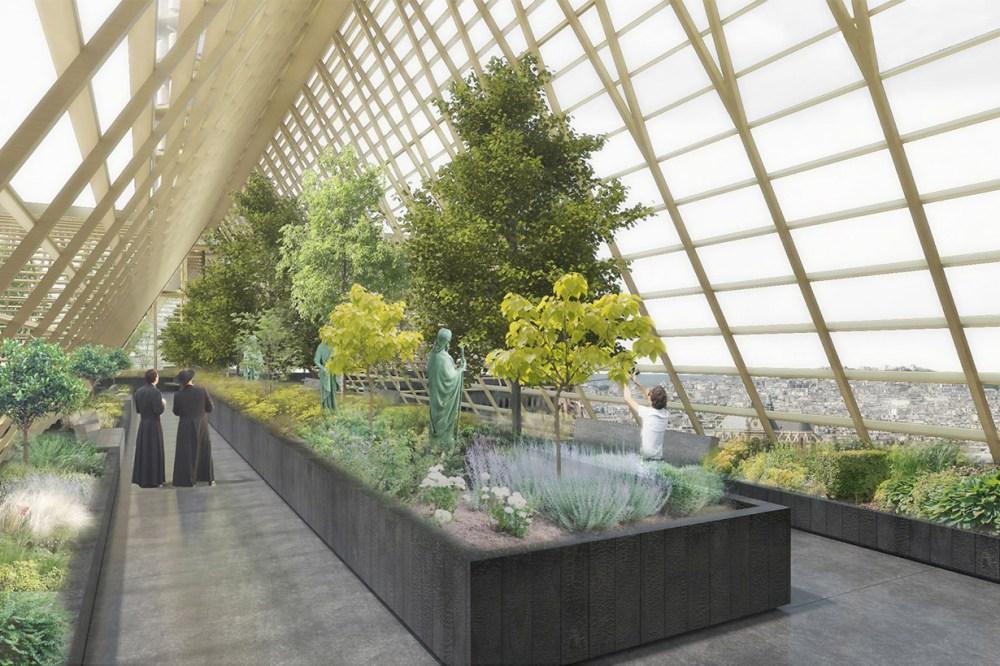 Notre Dame Greenhouse rebuilt