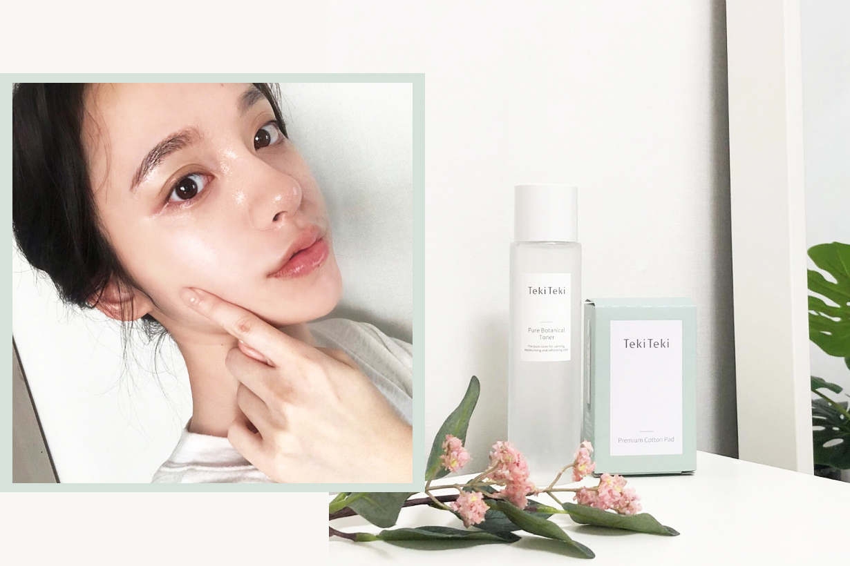Teki Teki pure botanical toner deep cleansing pores acne calming moisturising skin soothing korean skincare k beauty instagram hit