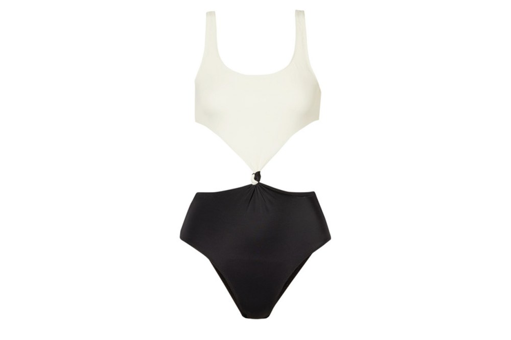 The Bailey Cutout Two-Tone Swimsuit