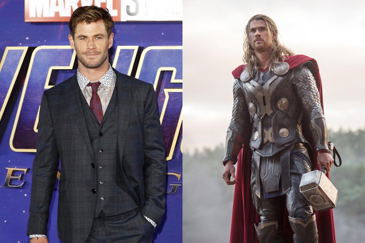 Avengers Marvel Avengers: Endgame Chris Hemsworth Thor Mjolnir hammer stole back home snickers bar