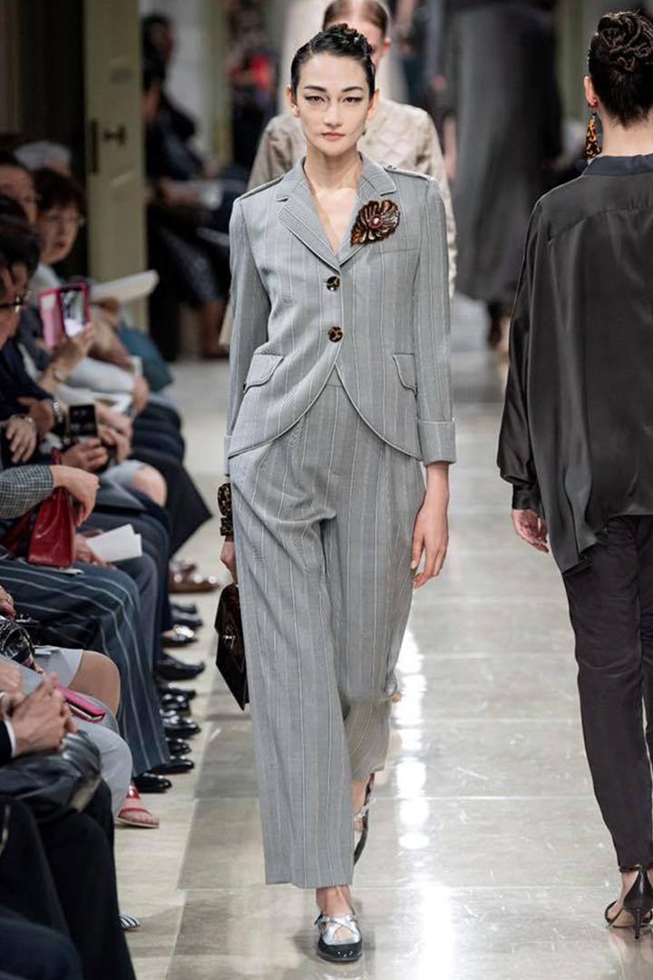 Japanese Model Ai Tominaga Giorgio Armani 2020 fashion show