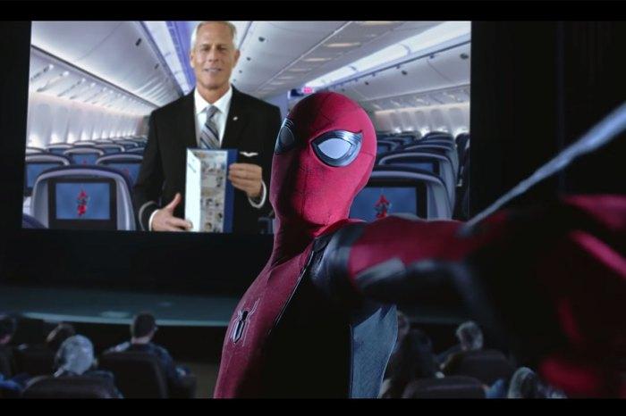 蜘蛛俠現身於聯合航空的飛行安全影片!網民表示:成功吸引我觀看整條片段