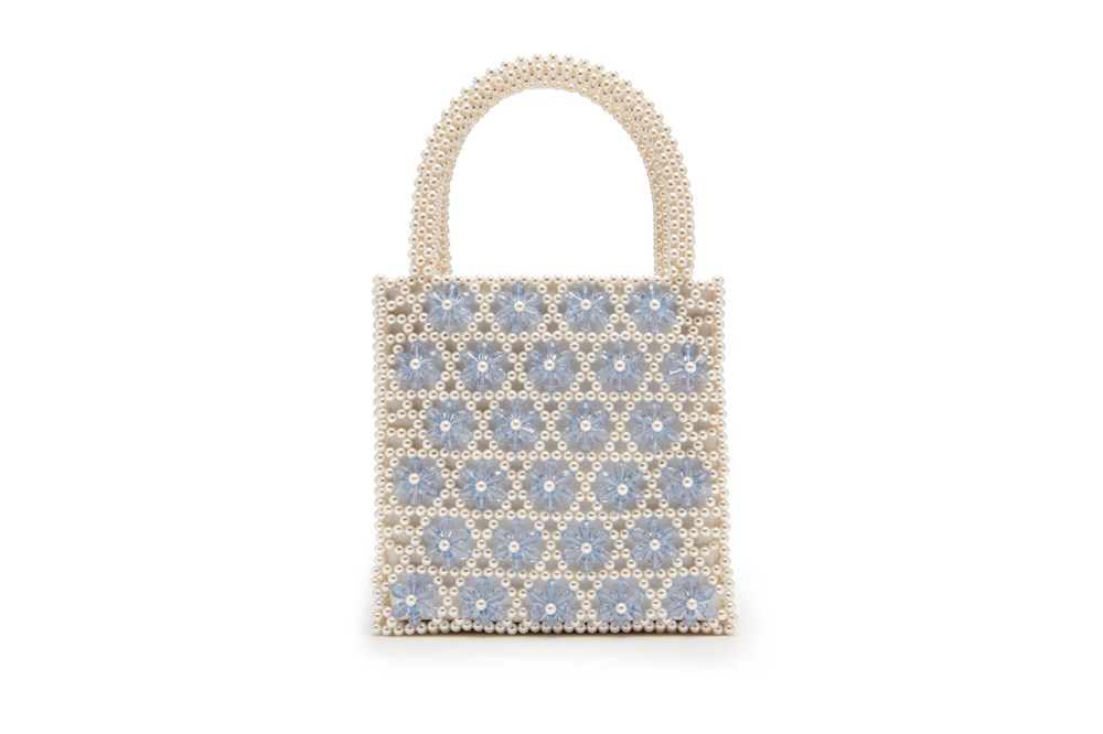 Venezia Faux-Pearl Beaded Bag