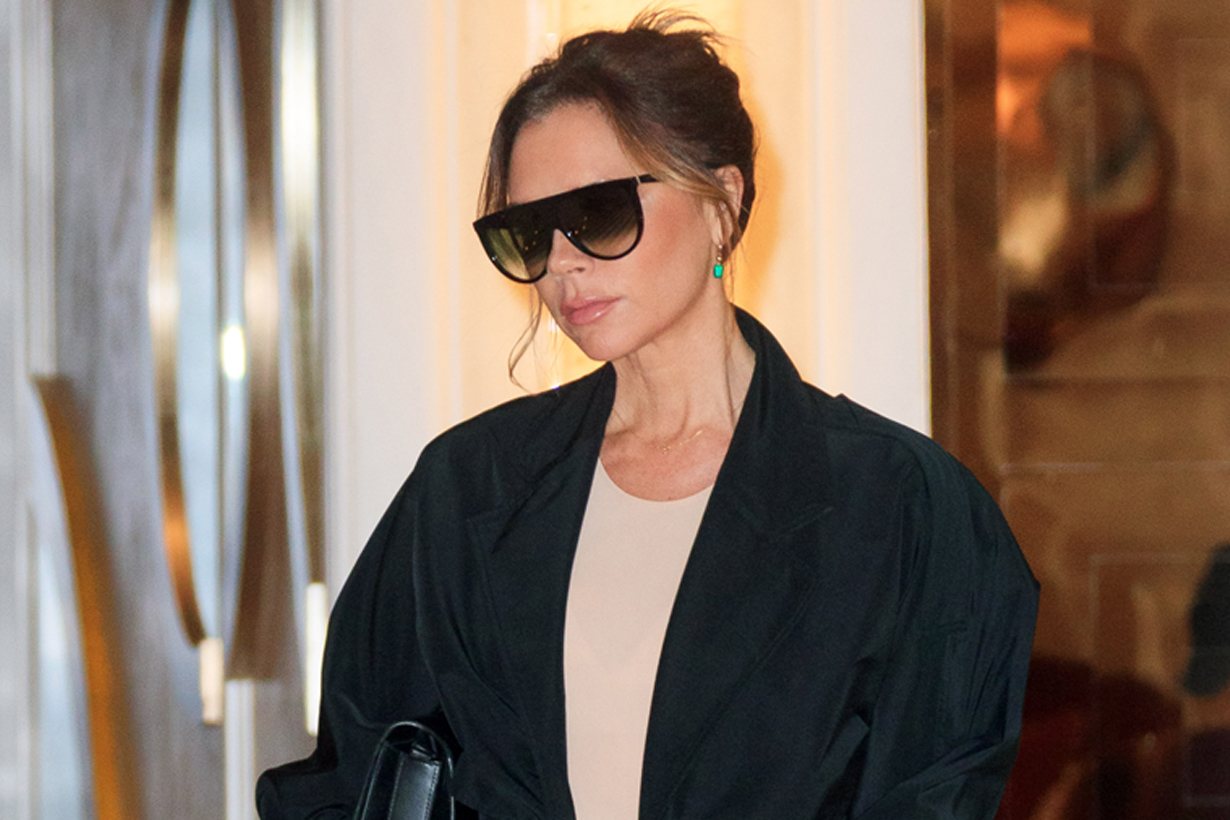 victoria beckham outfit leggings styling