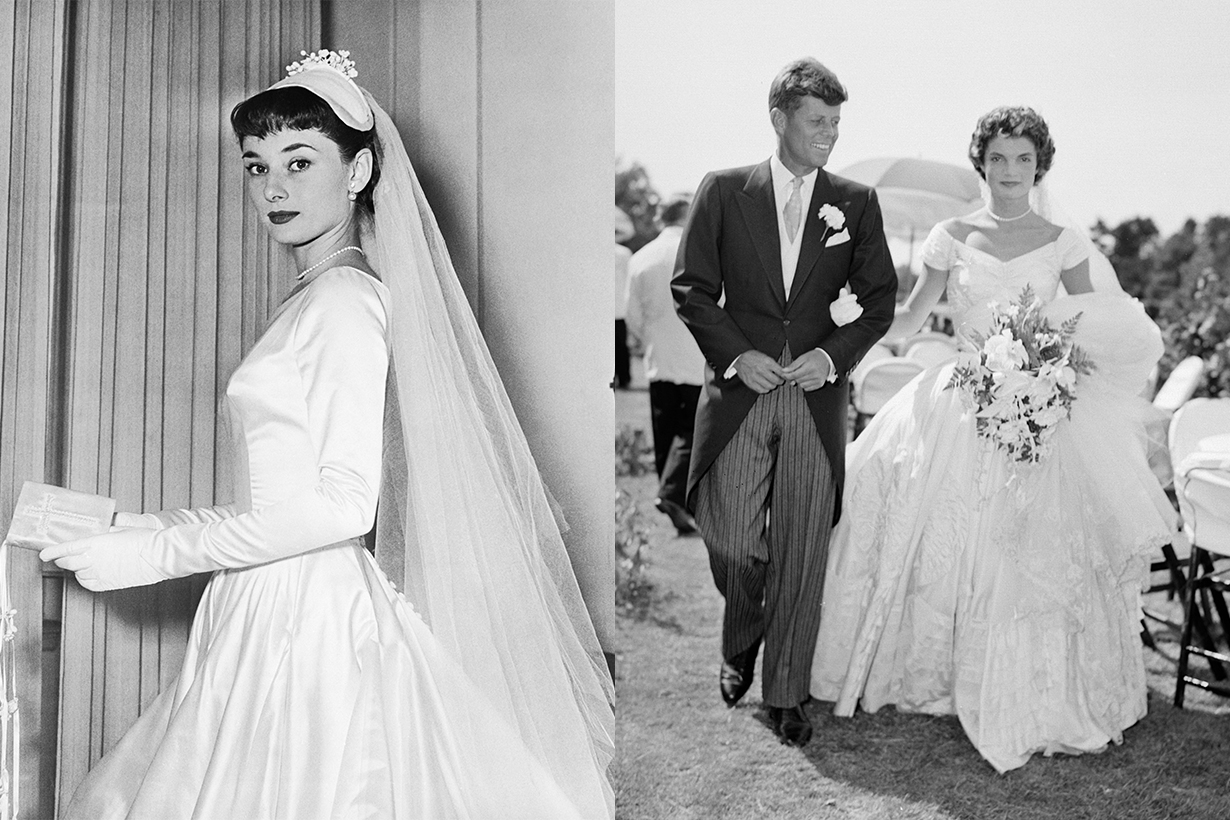 Elegant Wedding Dress Trends From Audrey Hepburn, Jane Birkin