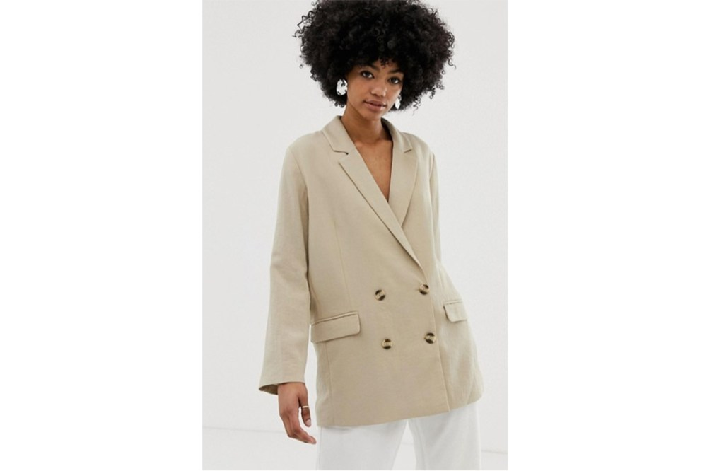 Weekday Oversized Blazer in Beige