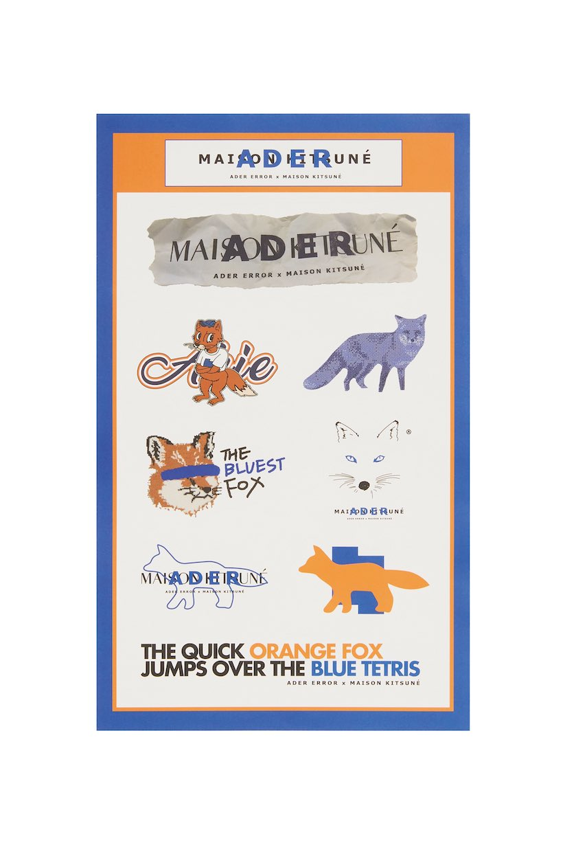 ADER x Maison Kitsuné artifacts price piece all products taiwan blue fox