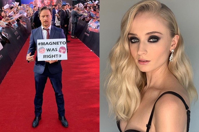 《X-Men》Sophie Turner 在片場竟這樣惡搞 James Mcvoy,令粉絲笑翻!