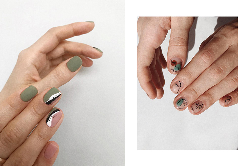 Nail Arts Trend 2019 summer Nail Color Painting