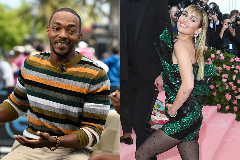 black mirror Cast Miley Cyrus Anthony Mackie Angourie Rice Avengers