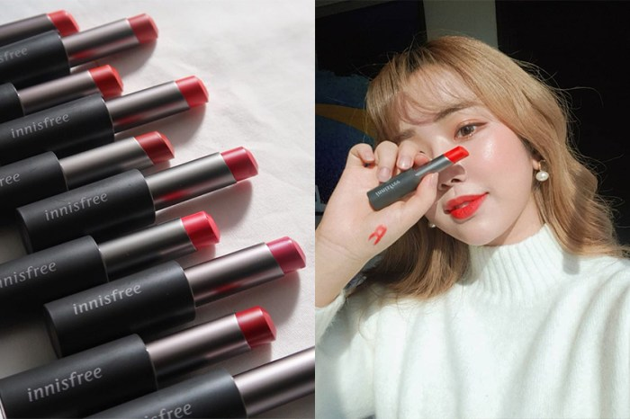 顯白色調登小紅書熱搜!韓國女生熱愛的 Innisfree 黑管唇膏終於買得到!