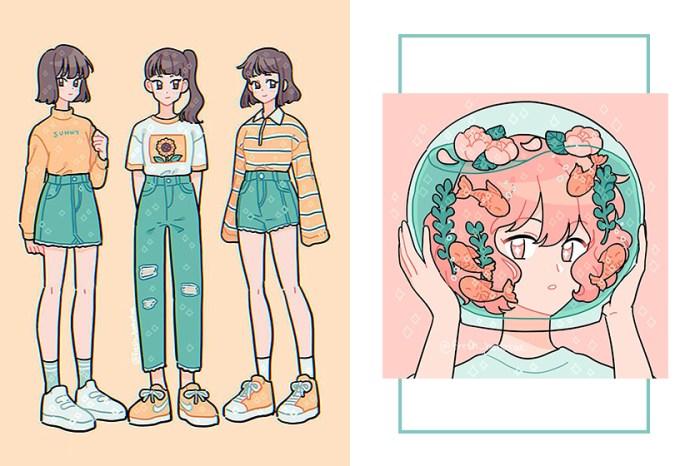 畫出療癒的女生日常:一起走進韓國插畫師 Emily Kim 的夢幻宇宙吧!