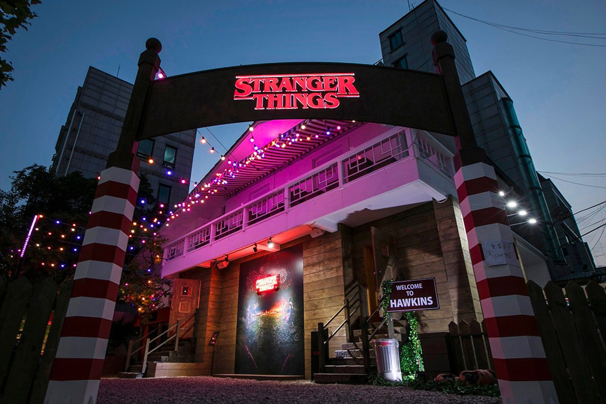 Netflix stranger things pop up spots  in korea