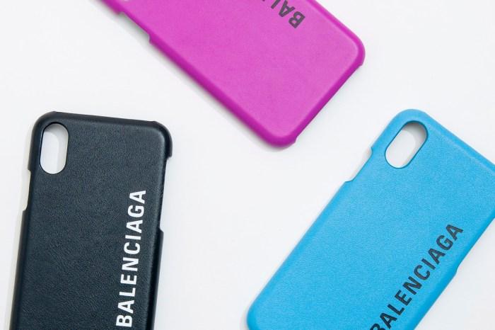 Balenciaga 首次推出手機殼:簡約小牛皮+Logo,猜猜看售價…?
