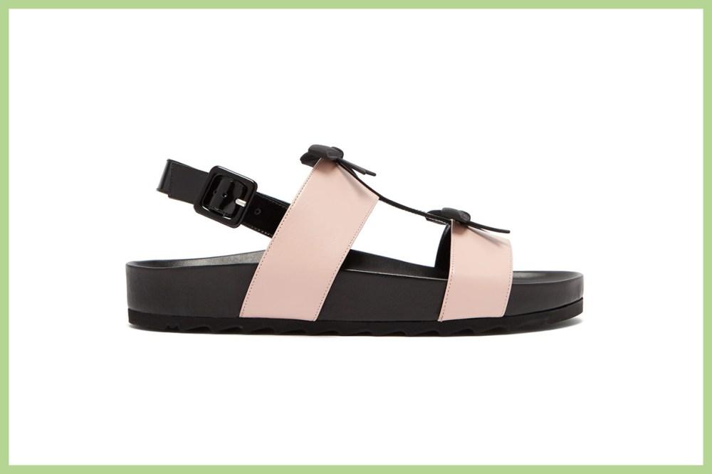 Berkley Bow Leather Slingback Sandals