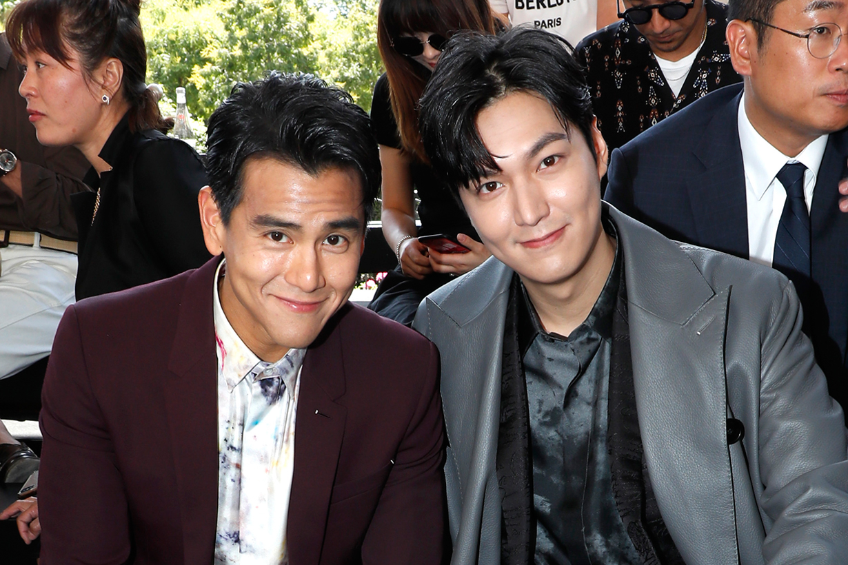 lee min ho eddie peng berluti paris men fashion week