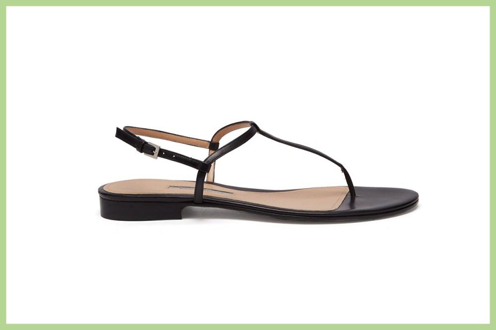Cecilia T-Bar Strap Leather Sandals
