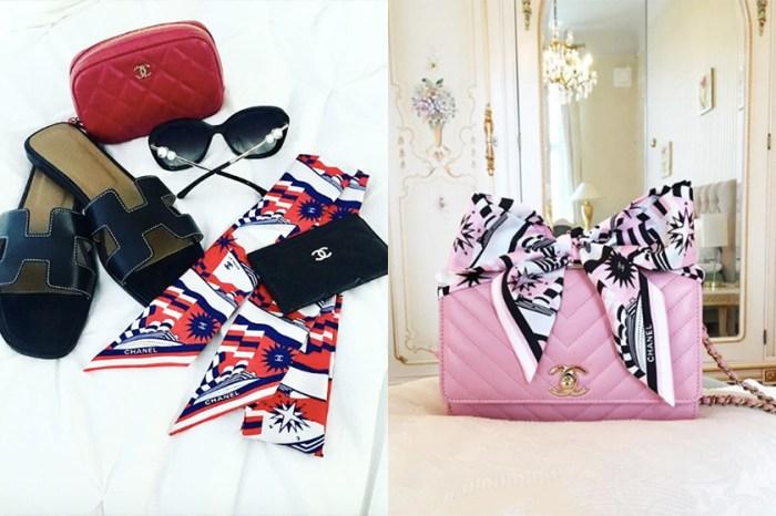 學 Instagram 女生們用一條 Chanel 絲巾,Upgarde 你的香奈兒包包!