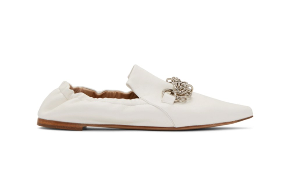 Chloé White Reese Loafers