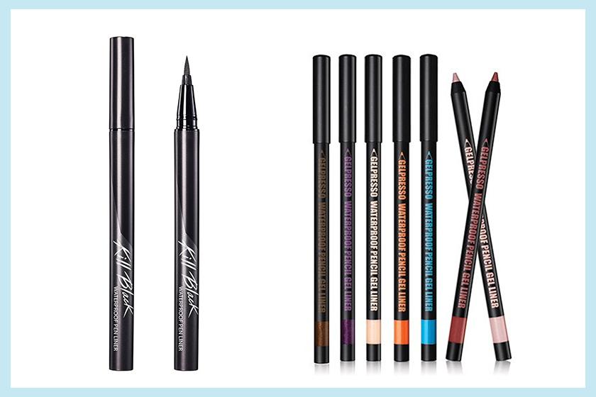 Clio Waterproof Pen Liner + Clio Gelpresso Waterproof Pencil Gel Liner