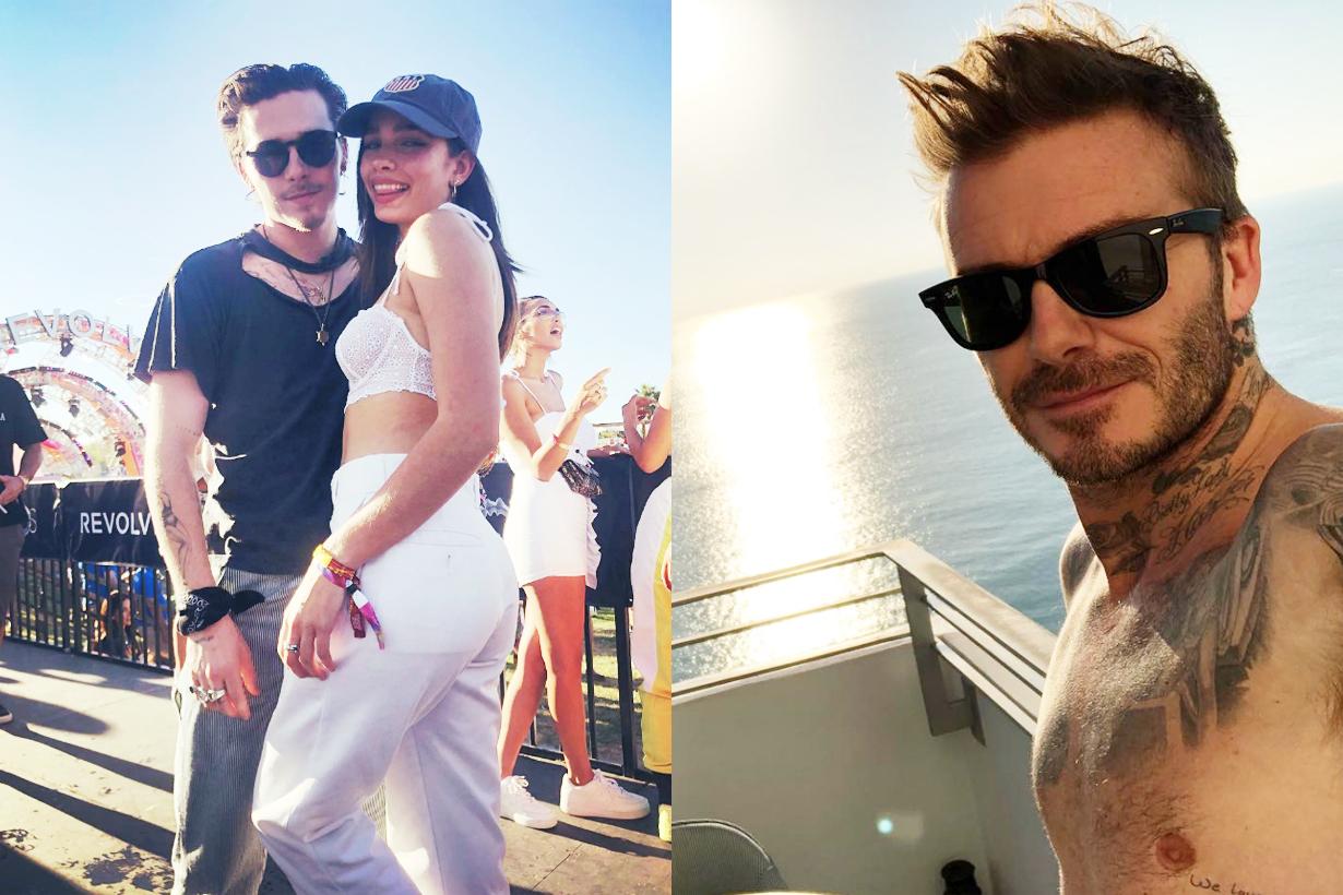 David Beckham warns Brooklyn Beckham girlfriend Hana Cross spend less time sick of drama Cannes Film Festival