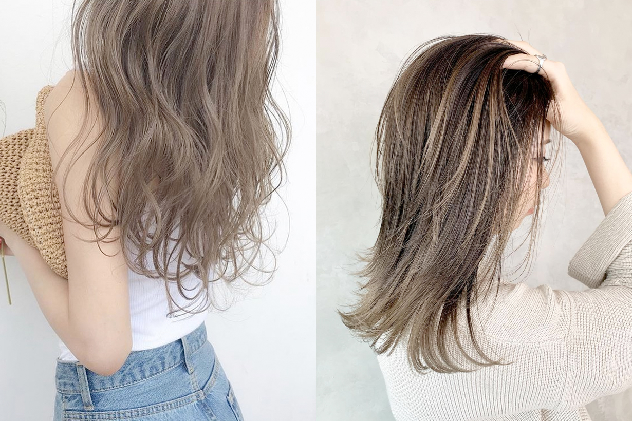 hair color dye highlight trends japanese girl