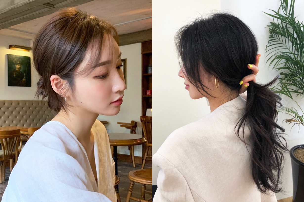 Summer Hairstyles recommendation hair styling tips ponytails hair bun braiding korean girls hairstyles idea
