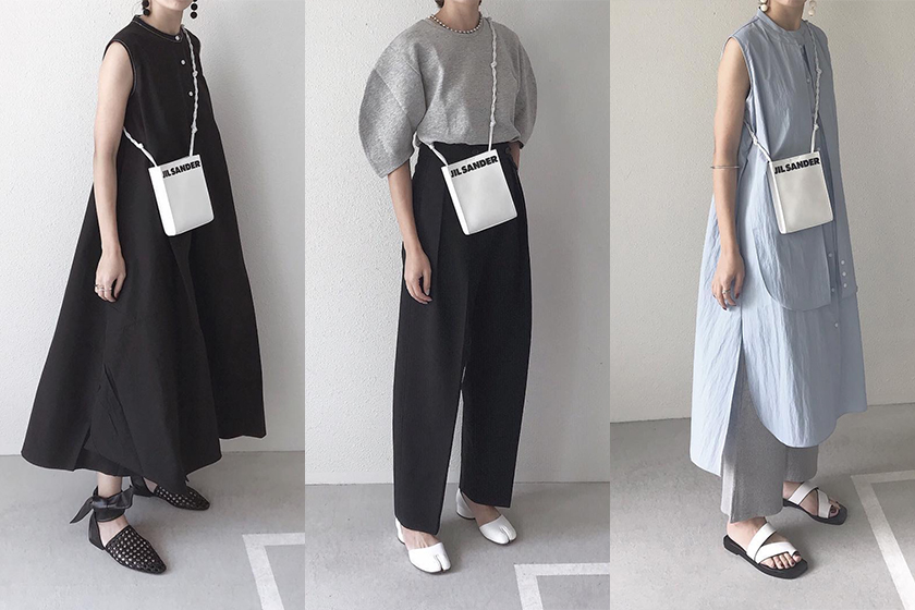 Japanese fashion blogger Tomo Minimalist daily outfit