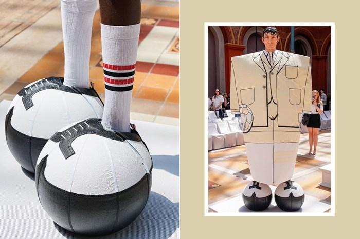 登上熱搜:Thom Browne本季男裝大秀上,這個超巨大「足球鞋」掀起一陣騷動!