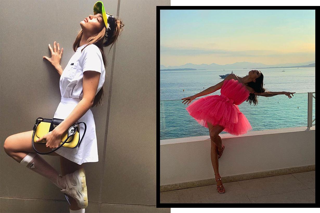 Instagram Flamingo pose Kendall Jenner Gigi Hadid