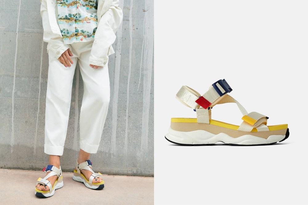 Flat Multicoloured Sports Sandals