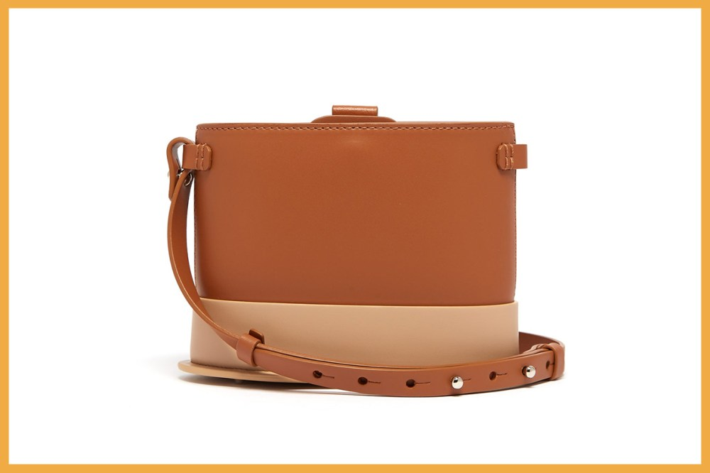 Frerea Oval Leather Cross-Body Bag