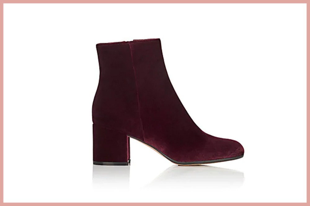 GIANVITO ROSSI Margaux Velvet Ankle Boots