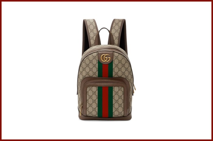 Gucci「迷你後背包」再補貨,小巧的尺寸加上 Monogram 太適合夏天了!