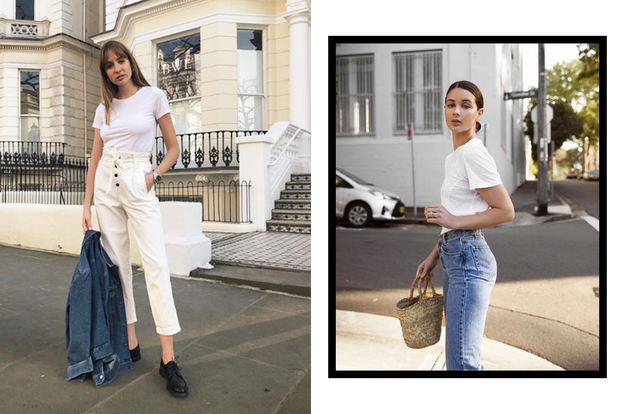 H&M Linen T-Shirt White Tee