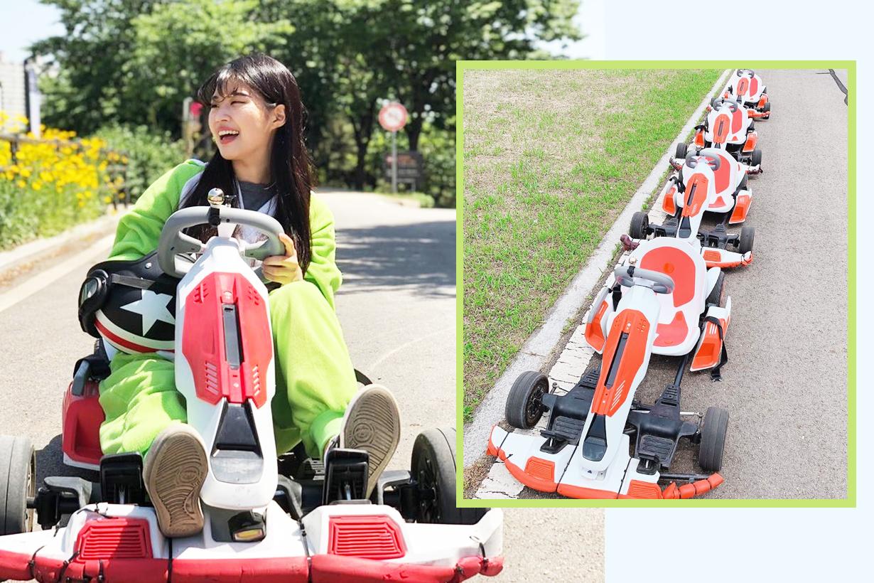 Hong Kart Seoul Mok Dong mario kart in real life korea travelling fun without driving license