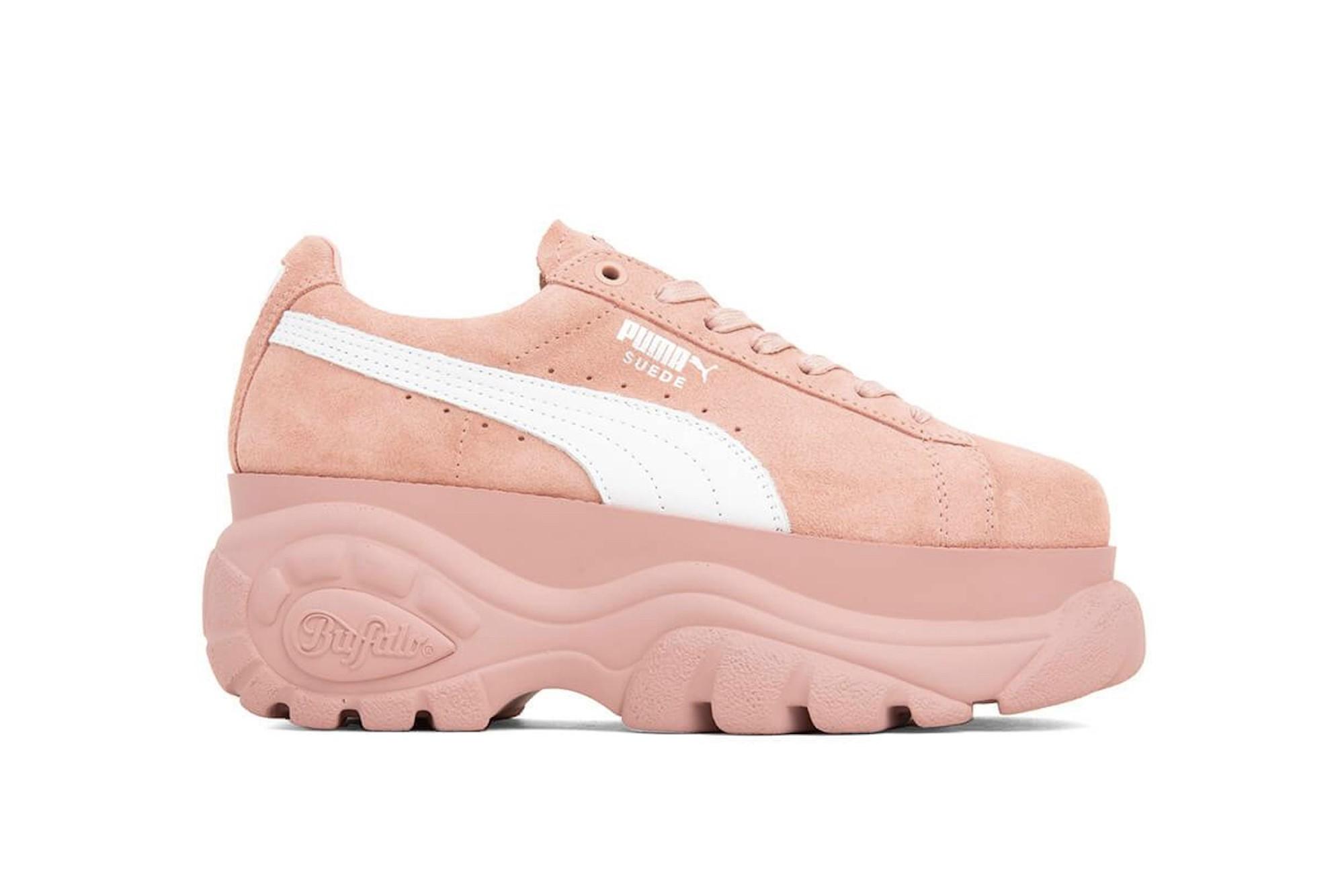 puma suede buffalo release new pink beige sneaker
