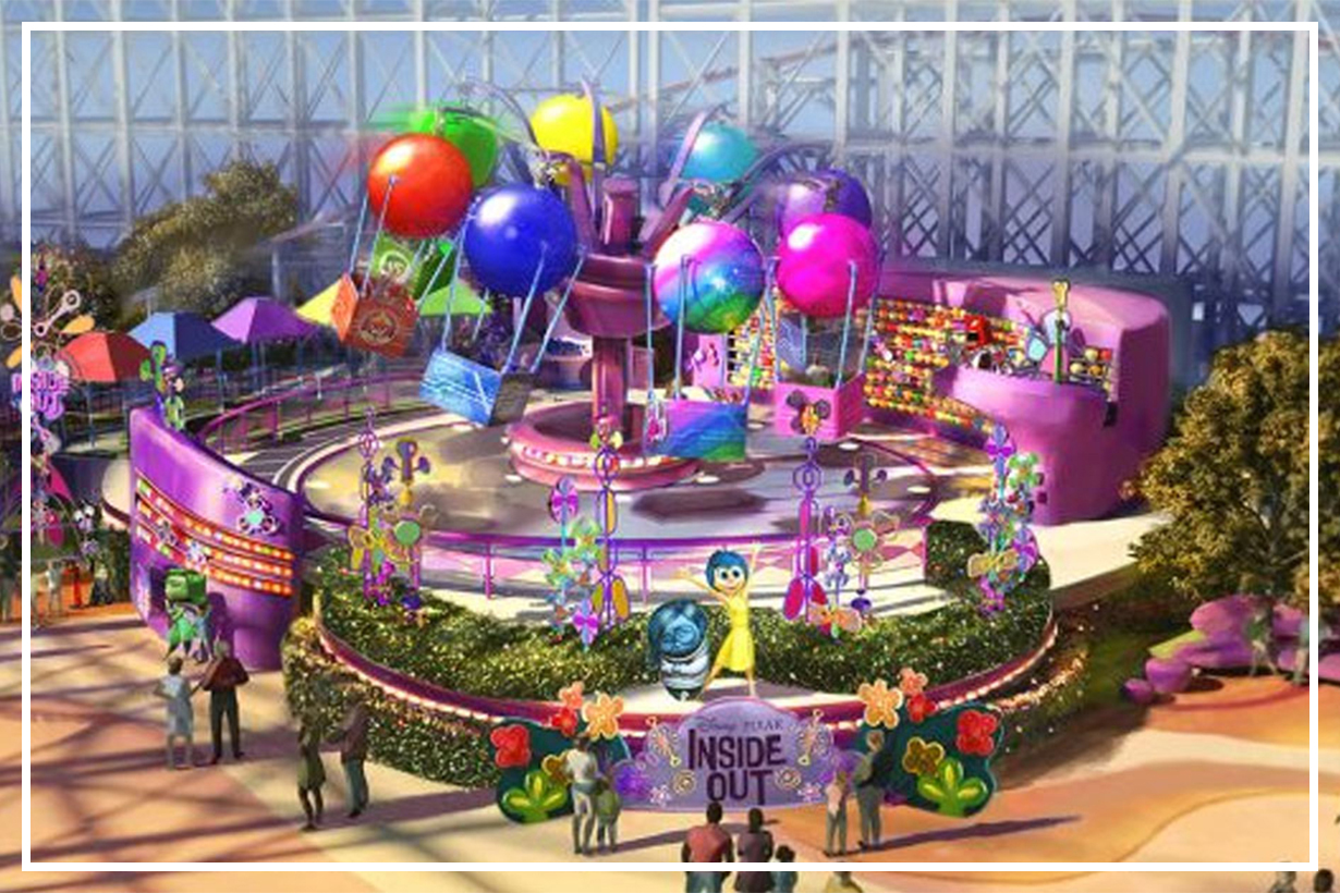 First Look at Inside Out Emotional Whirlwind at Disney California Adventure