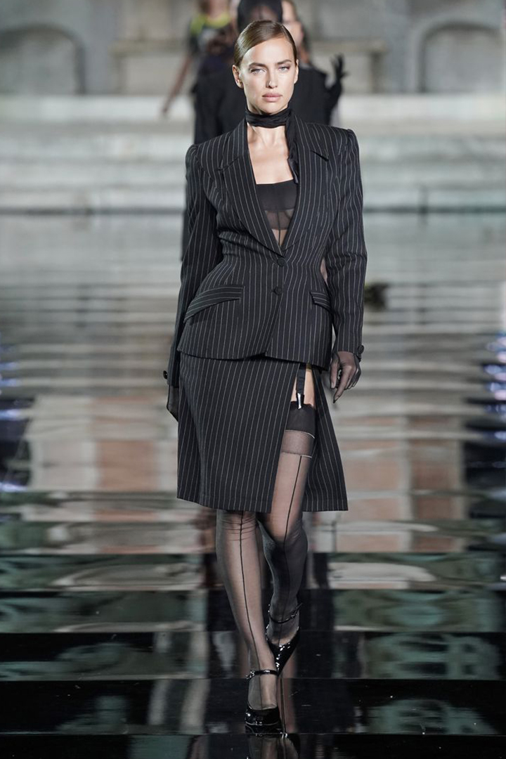 Irina Shayk Walked CR Runway X LuisaViaRoma After Bradley Cooper Break Up