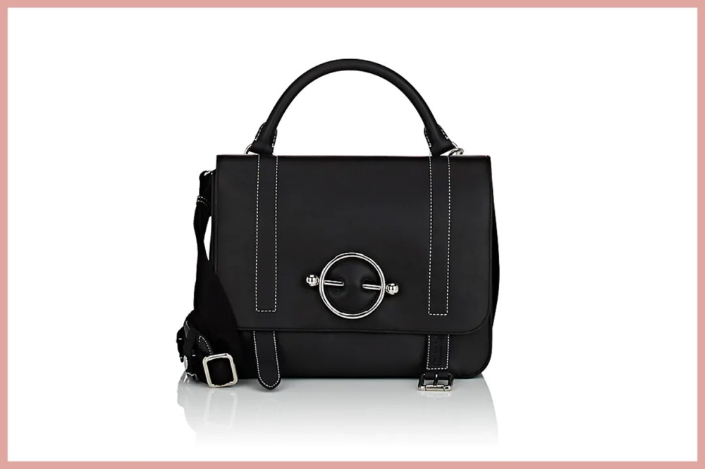 J.W.ANDERSON Disc Leather & Suede Satchel