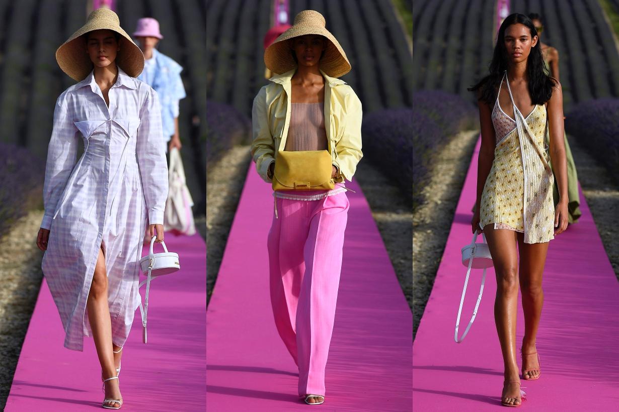 Jacquemus Lavender anniversary fashion show