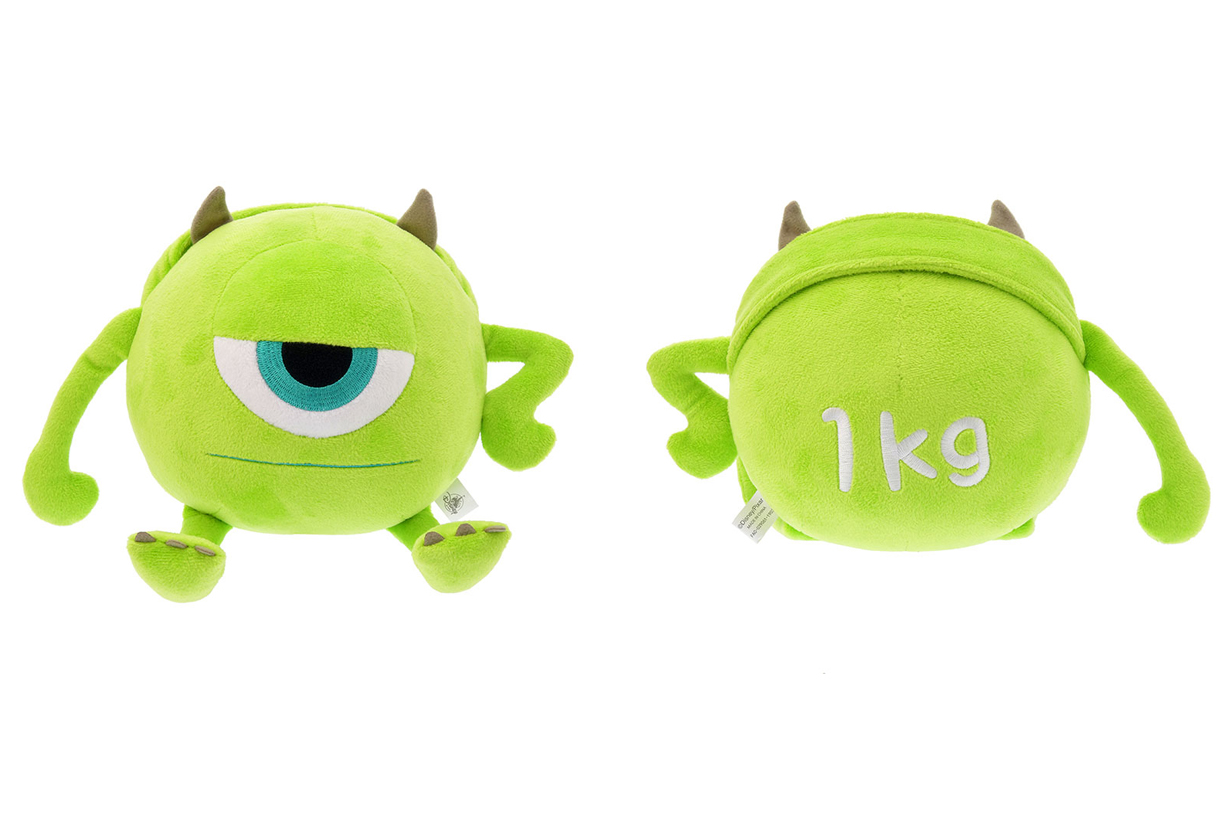 Japan Disneyland online store weight training Dumbbell tape measure Monster Inc. Mike Chip and Dale Winnie the Pooh Woody Toy Story Keep Fit Fitness Tool
