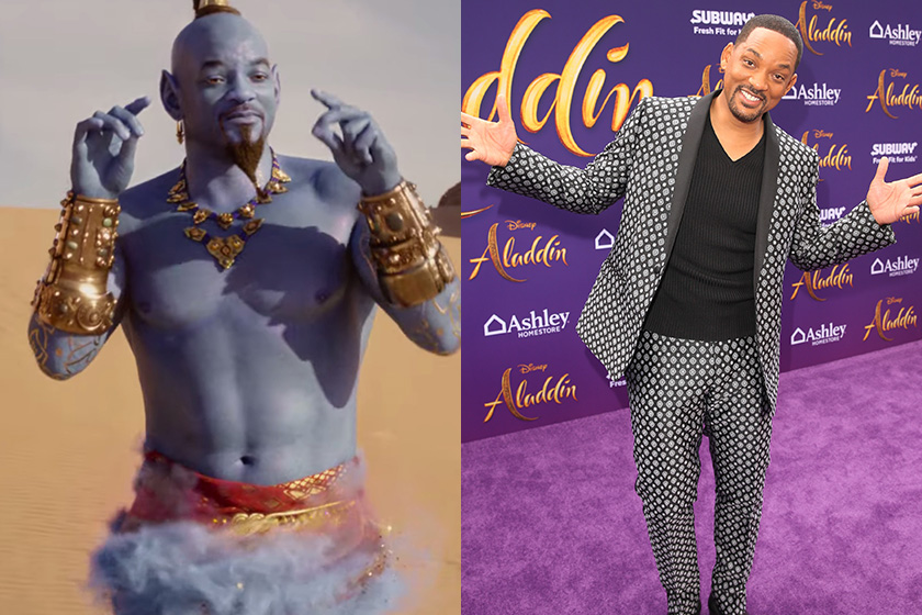 Will Smith Aladdin movie red carpet reply little girl