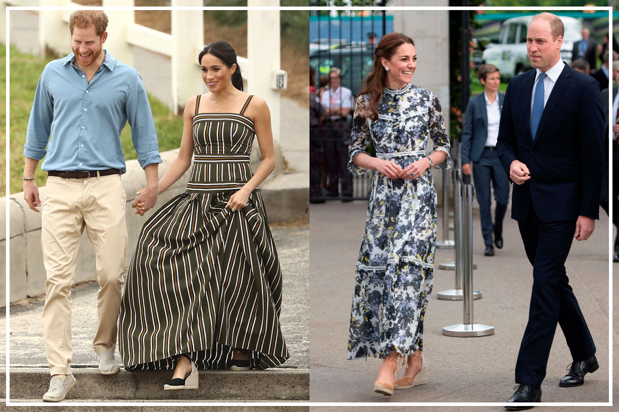 Kate Middleton and Meghan Markle Wearing Espadrille Wedges From Castañer